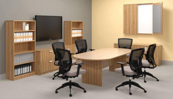 superior laminate racetrack conference table otg alan desk 5