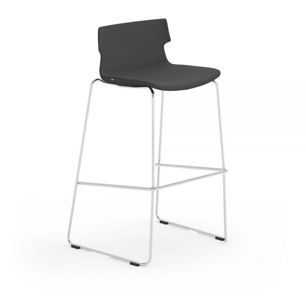 iDesk Tikal Upholstered Bar Stool Alan Desk