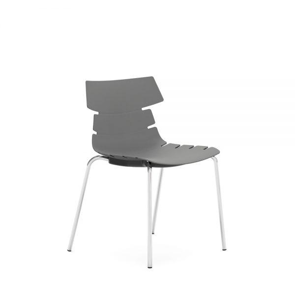 iDesk Tikal Side Chair 4 Leg Poly Alan Desk