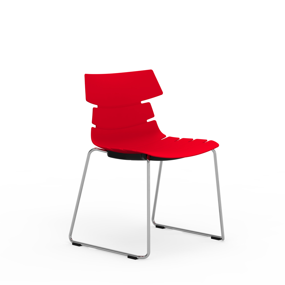 iDesk Tikal Sled Base Poly Side Chair Alan Desk