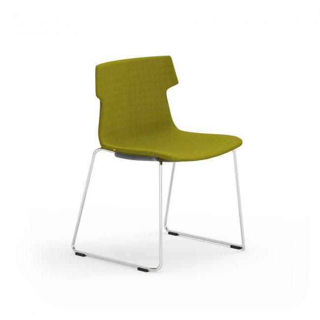 iDesk Tikal Upholstered Sled Base Chair Alan Desk