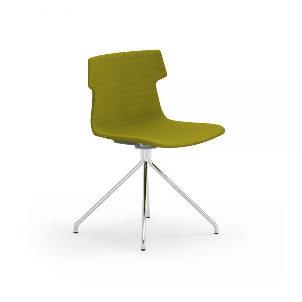 idesk tikal upholstered side chair spider base alan desk
