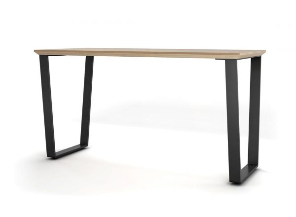 darran not so square table desk with black legs