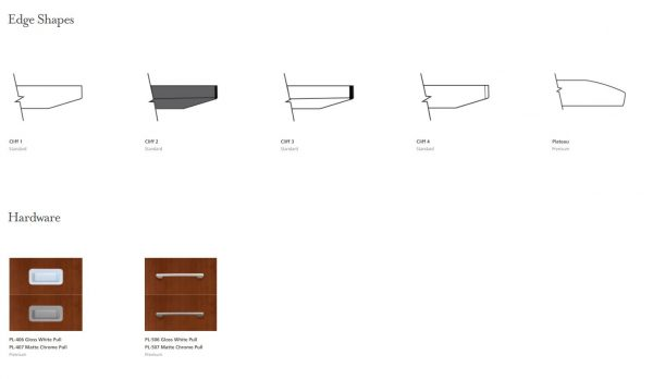 edge detail and hardware options darran
