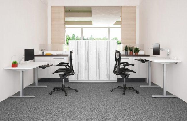 ESI Enmo standing desk white base and white top