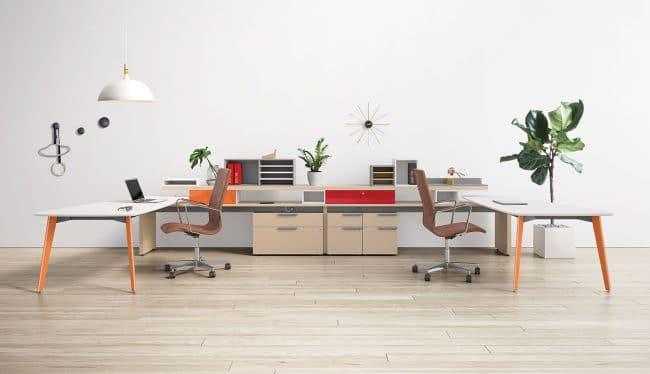 three H open plan furniture