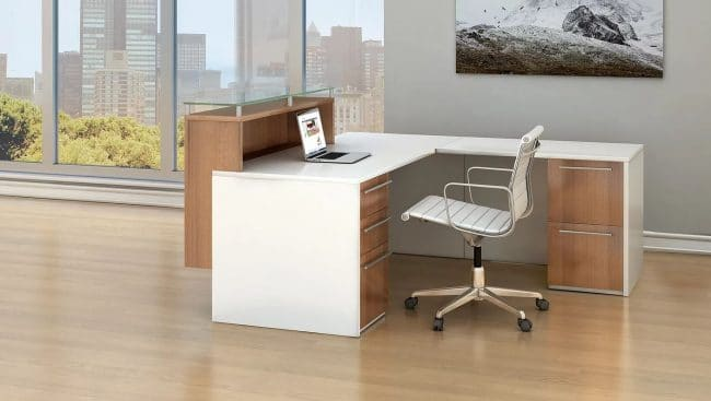 maverick reception station white and brown color