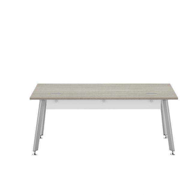 idesk snowberry table desk in laminate
