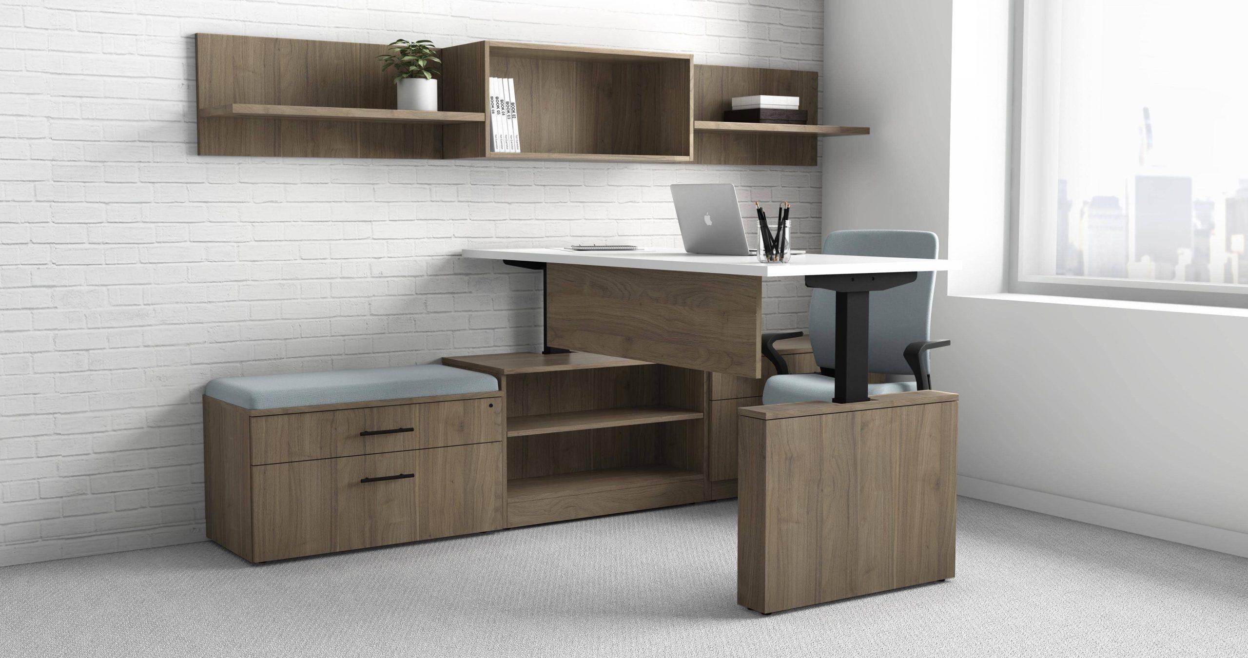 deskmakers ascend collection t shape desk